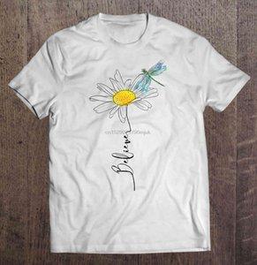 Hommes T-shirt Croyez Daisy et Dragonfly femmes t-shirt