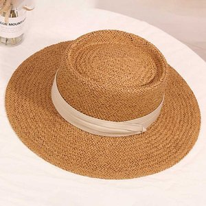 Широкие шляпы Breim Hats летняя мода женская соломенная шляпа леди солнцезащитная крышка панама стиль ведра шапки соломены пляж открытый девушка