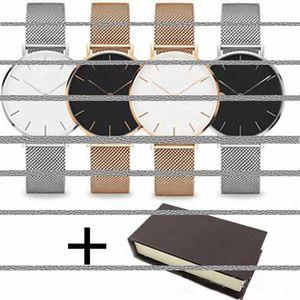 Designer montre en or rose 32mm 36mm hommes et femmes 40mm mode luxe watchs montre à quartz tube acoustique décoratif mâle Relógios Homem regarder 156