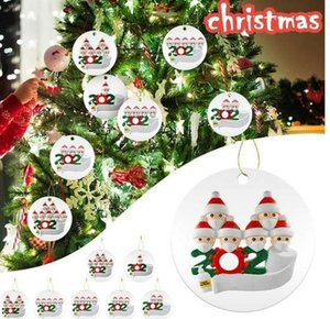 2020 Quarantine Christmas Birthdays Party Decoration Gift Personalized Family Of 2 3 4 5 6 7 Ornament Hanging Xmas Tree Decorations