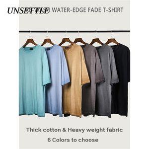 Turbare pesante tessuto di alta pianura della maglietta Bulk Street Fashion T-shirt / Donne Kanye West base sovradimensionato tshirt manica corta 0921