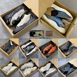 مع صندوق أسهم Arzareth Azael V3 700 موجة عداء للعظام الأسود 500 الملح أحمر الخدود كاني ويست الاحذية الرياضية أحذية رياضية الرجال النساء س المدربين