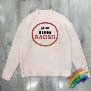 De doble cara suelta suéter mujer de los hombres de alta calidad de 1 Suéter de la vendimia