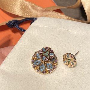 rLrNE tribu colorée rond amovible motif géométrique d'or reprofilable rayures colorées et boucles d'oreilles boucles d'oreilles géométriques