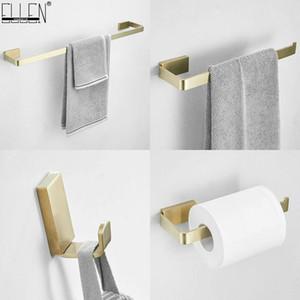 Holder Bathroom Brushed Holder Steel Paper Hardware Towel Ring Set Ellen Robe Ml19300g Gold Hook Towel 304 Stainless Toilet DRbKK lucky2005