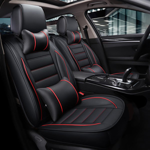 Universal Leather Car Seat Covers Comfortable Car Automobiles 5 Seats Cushion Cover For Four Seasons Car Accessories