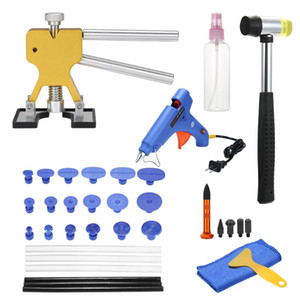 Paintless Dent Repair Tools Kit Dent Lifter Puller Glue Tabs Glue Gun Tools Sticks 35pcs