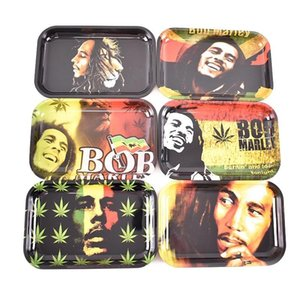 Metal Trays 18x12.5 14cm Tobacco Rolling Rolling Papers Marley Smoking For Tray Hand Bob 29x19cm Roll Pipe Roller Cartoon bbyfx sweet07