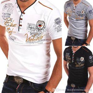 Tshirts Summer Short Sleeve Skinny Mens Black Tops Casual Boy Tees Newest V Neck Print Designer Mens