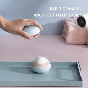 Dropshipping 2020 Hot Sale Fashion Dish Brush Silicone Shampoo Scalp Hair Massager Clean Bath Shower Hair Cleaning Comb