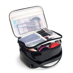 Makeup Case High Quality Waterproof PU Cosmetic Bag High Capacity Travel Organizer Case Women Portable Beautician Toiletry Box