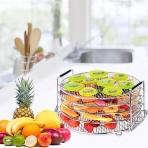 Air Fryer Accessoires déshydrateur rack 5 niveaux empilable en acier inoxydable Séchage support pour Air Fryer autocuiseur