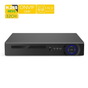 HDMI VGA 4K 5M NVR ONVIF Security System 3G 4G WIFI Face Detection H.265++ Metal Case 32CH NVR CCTV For IP Camera