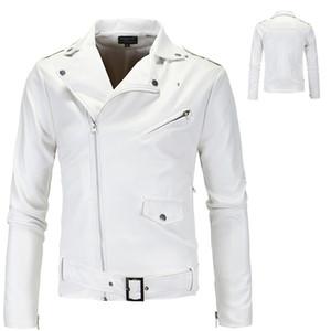 aowofs 2020 men's trendy motorcycle leather coat British white washed leather coat XY018 M-4XL