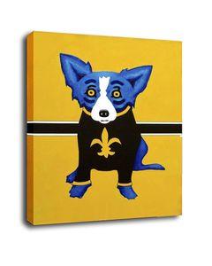 Art Animal Картина маслом Печать на холсте Современное искусство стены Modular Джордж Rodrigue голубой собаки стена картинки для гостиной Deco G050