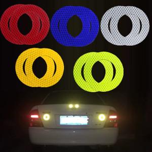 Angel eyes Absperrband Streifen Aufkleber Warnlicht-Reflektor Protective Aufkleber Reflective Film-Auto-Sicherheitszeichen Reflektierende