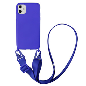 Luxury Silicone Chain Necklace Cell Phone Case With Lanyard Neck Strap Rope Cord For iPhone7 8 Plus X XS XR 11 pro MAX