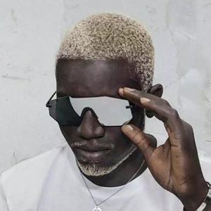 Frameless super light and large frame sunglasses for men