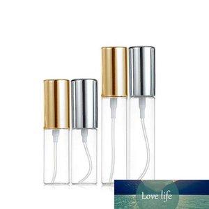 Mini feine Nebel Klar 5 ml / 10 ml 1 / 6OZ 1 / 3OZ Atomizer Glasflasche Spray nachfüllbaren Duft Parfüm Leer Scent Bottle W / Aluminium-Sprüher