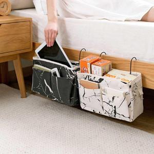 Bolsas de almacenamiento Colgando Candy Canddy Bolsa de cama Mesa Sofá Bolsillo Titular Teléfono Teléfono Organizador remoto Cesta con 2 ganchos
