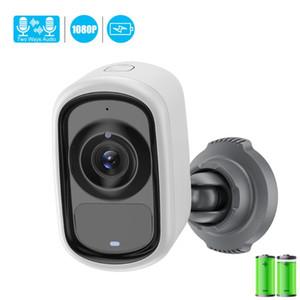 1080P IP Wifi della macchina fotografica telecamera esterna coperta 6400mhA batteria ricaricabile agli agenti atmosferici di sicurezza del CCTV di movimento di PIR IR Allarme