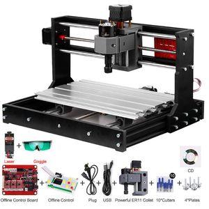Versão de atualização CNC 3018 Pro GRBL Controle DIY CNC Máquina 3AXIS PCB Máquina de fresagem de madeira gravador de madeira com controlador offline