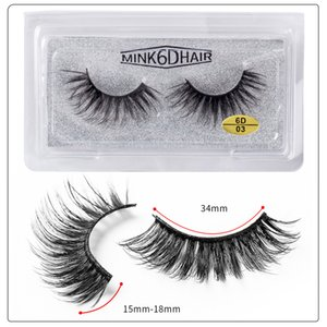 Dropshipping Handaiyan 6D False Eyelashes Natural Thick Curly Long Eye Lashes Wispy Makeup Beauty Extension Tools Handmade 3D Mink Lashe