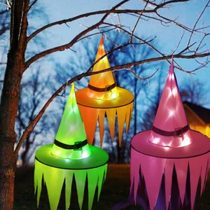 New Sawtooth Witch Hats Halloween LED Luminous Witch Hat Children's Adult Party Cosplay Dance Dress Cap Costume Decor Multicolor
