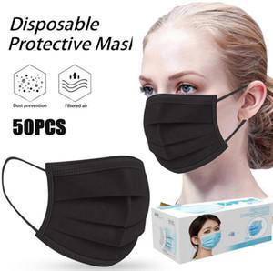 UPS DHL-frei 200x Einweg Anti Pollution-Gesichtsmaske Mundverschnaufpause 3-Schicht-Earloop schützende Schablonen-freies Verschiffen schnelle Anlieferung