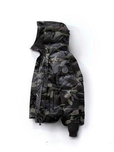 Qulity Goos Brand Design com capuz Homens de Down Brasão de Luxo 86320 Thicken Down Jacket Canadá Camouflage Parkas 7 cores Coats