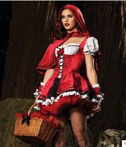 jyGPZ cosplay principessa del fumetto vestiti Little Red Riding Natale costume costume di Halloween gioco Little Red Hat abbigliamento principessa vestito Hood