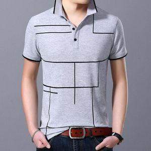 2020 New Fashion Fit Polo Brand Men's Men's Summer Plaid Top Short Sleeve Grade Shirt Cotton Slim Poloshirt Casual Boys Clothing Fssce