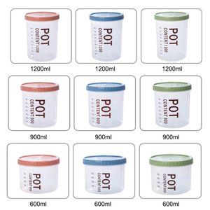 1200ml Screw Cap Plastic Food Storage Container Kitchen & Pantry Organization Containers Plastic Airtight Canister For Grains Dry fruits