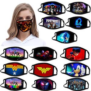 individuelle Gesichtsmaske Fortnite Mario Halloween Weihnachten superhero erwachsenes Kind Gesichtsmasken mascherina Designer Baumwolle Maske wiederverwendbar facemask