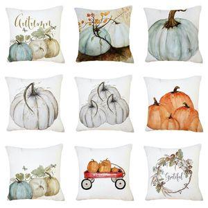 caso funda de almohada de calabaza de Halloween súper decoración del hogar funda de almohada suave sofá de la oficina decoración de Halloween T2I51440
