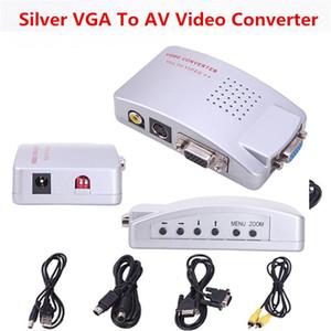 20PCS lot* VGA to video converter New PC Laptop Computer AV RCA Signal TV S-Video Converter Box Supports NTSC PAL system