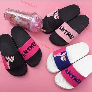 Hococal 2020 Summer Women slipper Slides Pink Panther Cartoon Lovely Beach Slippers Platform Sandals Women Shoes Flip Flops Zapatillas