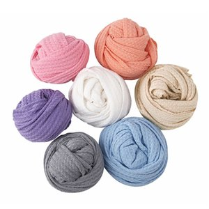 Newborn Baby Knitted Swaddle Wraps Receiving Blanket Infants Toddler Photography Props Photo Shooting Accessories