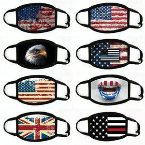 Baskı Maske Evrensel İçin Erkekler Kadınlar Amerikan Bayrağı toz geçirmez eksikliği Maskeler Amerikan Seçim Malzemeleri Parti Maskeler Maske 2020 # 519