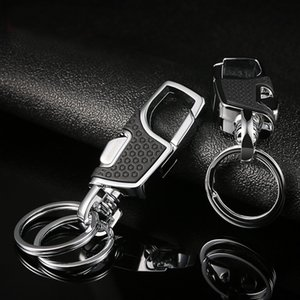 Luxury Titanium Men Belt Car Key Chain Creative Ultra Lightweight EDC Waist Hanging Key Ring Holder Keychain Buckle Best Gift