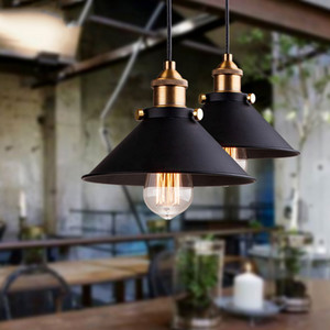 Titolare Edison Loft dell'annata di stile industriale Retro lampada a sospensione luce E27 Iron Restaurant Bancone Attico Bookstore lampada