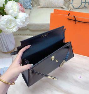 estilo original Negro Kelly bolsas bajo los brazos 2020 bolsa de mensajero bolsa de última moda mujer estilo del bolso de cuero del hombro
