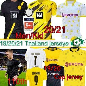 Borussia Dortmund camicia di calcio 20 21 HAALAND REUS BELLINGHAM 110a maglia da calcio PERICOLO DI SANCHO BRANDT REYNA BAMBINI KIT maglie MEN Thai PANTALONE