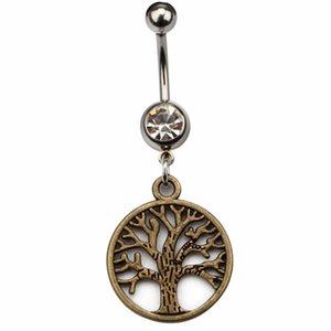 D0638 (2 цвета) хорошая жизнь дерево в стиле живота кольцо чистый цвет в виде подругивающихся пирсинговых организмов ювелирные изделия