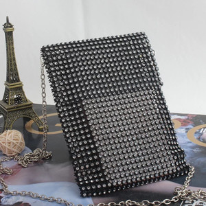 2019 summer new mini mobile phone bag fashion all-match Diamond evening banquet bag shoulder crossbody chain bag clutch