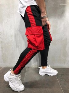 Calças Lápis Atlético Primavera Pantalones roupa casual mens Sports Jogger Calças Cores Big bolso Designer