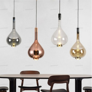 Modern Restaurant LED Chandelier Bar Cafe Pendant Lamp Bedroom Lighting Minimalist Art Glass Dining Room Hanging Lights