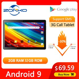 ZONKO 10'' Tablet Android 10 Phone Call Tablet PC 3G Network Tablets WiFi Quad Core 2GB RAM 32GB ROM 1280*800 IPS Kids