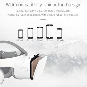 Freeshipping 3D Glasses Virtual Reality Immersive VR Headset Bluetooth Wireless Smartphones Google Cardboard Box with Controller