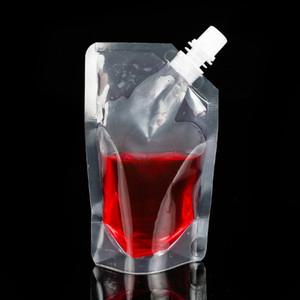 Clear Drink Pochettes Sacs 250 ml - Sacoche en plastique de haut en bas de 500 ml avec support bouteilles d'eau résistant à la chaleur reclosible HWB621